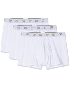3 PK MENS UNDERWEAR TRUNK WHITE BASIC
