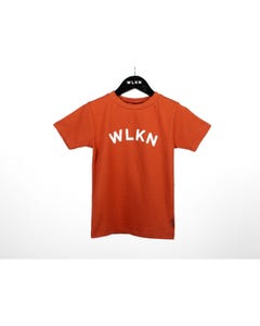 WLKN Boys T Shirt Burn Orange White Wlkn Logo Short Sleeve Size 2-14 | Baby Boy Shirts 20SPTJ02 Orange