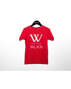 WLKN Boys T Shirt Red White Large W & Logo Short Sleeve Size 2-14 | Toddler Boy Shirts 20SPTJ13 Red