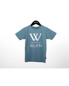 WLKN Boys T Shirt Slate Blue Large White W & Logo Short Sleeve Size 2-14 | Baby Boy Shirts 20SPTJ13 Blue