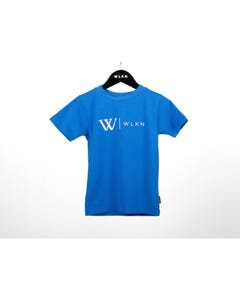 WLKN Boys T Shirt Royal Blue White W & Wlkn Logo Short Sleeve Size 2-14 | Boys School Shirts 20SPTJ14 Blue