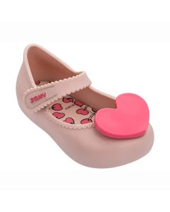 ZAXY Girls Shoe Light Pink Maryjane Toddler Heart Trim Size 5-12 | Toddler Shoes 82873 Pink