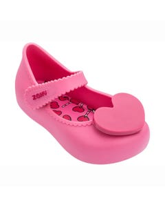 ZAXY Girls Shoe Pink Maryjane Toddler Heart Trim Size 5-12 | Shoes For Infants 82873 Pink