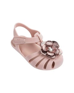 ZAXY Girls Sandal Light Pink Toddler Flower Applique Size 6-10 | Infant Shoes 83031 Pink