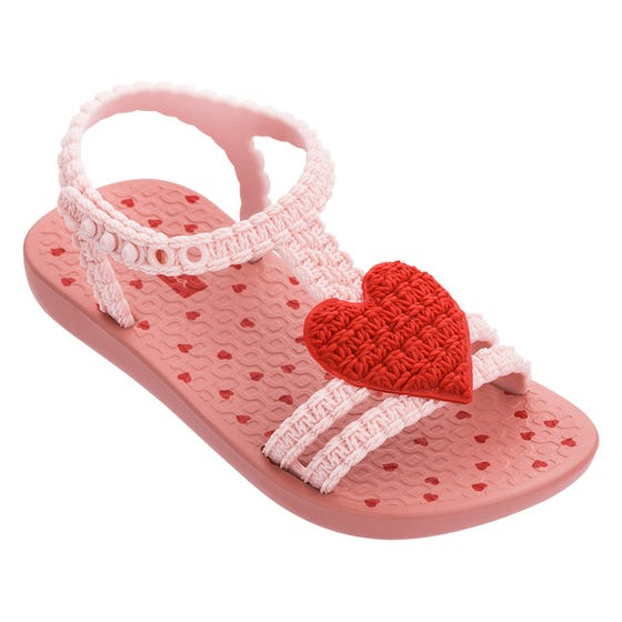 Ipanema Girls Sandal Light Pink Red Heart Toddler Size 5-10 | Toddler Sandals 81997 Pink