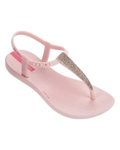 Ipanema Girls Sandal Light Pink Sparkly Trim Child Size 11-4 | Kids Flip Flops Girls 82306 Pink