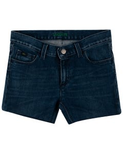 DENIM SHORT GREEN LOGO