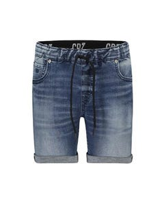 Cristiano Ronaldo Boys Short Denim Stretch Blue Cuff & Pull Waist Band Size 4-16 | Toddler Boy Shorts P0167B Denim
