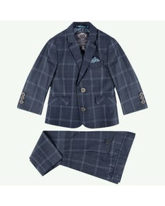 Appaman Boys Suit Grey Blue Plaid Stargazer Size 2-16 | Baby Boys Suits W8SU1 Plaid