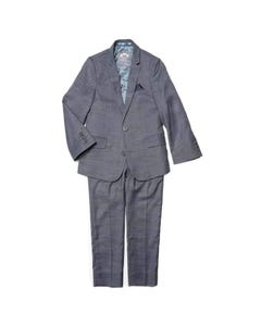 Appaman Boys Suit Grey Blue Yonder Check Size 2-16 | Boys Tuxedo W8SU2 Grey