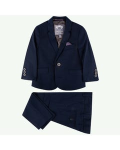 Appaman Boys Suit Navy Grated Indigo Size 2-16 | Boys Dress Suits W8SU3 Navy