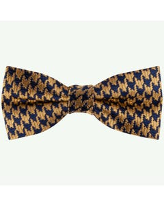 Appaman Boys Bow Tie Navy & Gold Houndstooth Print Size OS | Baby Boy Bow Ties W8BOW Gold