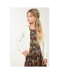 Mini Molly Girls Cardigan Beige Knit With Pocket Size 6-14 | Sweater For Girl Online Shopping E1120A20 Beige