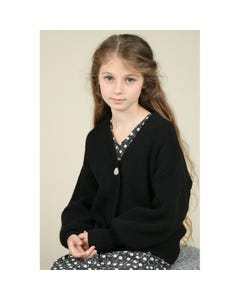 Mini Molly Girls Cardigan Sweater Black 3 Button Closure Size 6-14 | Sweater For Girl Online Shopping LA511A20 Black