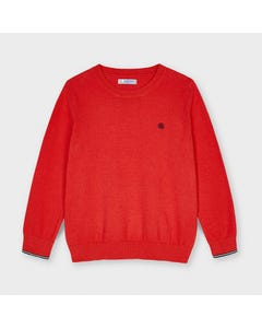 Mayoral Boys Sweater Red Knit Crew Neck Long Sleeve Size 2-9 | Kids Sweaters Boys 311 Red