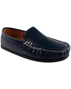 SHOE NAVY SLIP ON STITCHED TRIM