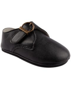 SHOE BLACK IMITATION BUCKLE CLOSURE BABY
