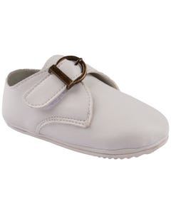 SHOE WHITE IMITATION BUCKLE CLOSURE BABY