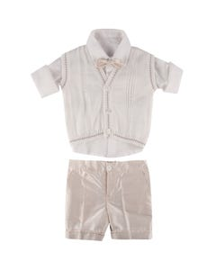 IVORY 5PC VEST & SHORT SET