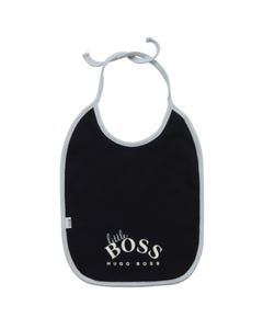 Hugo Boss Girls Bib Navy White Boss Logo & Blue Edging Size OS | Bibs For Toddlers J98103 Navy