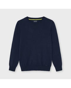 Mayoral Boys Sweater Navy Knit Cotton Long Sleeve Size 8-18 | Baby Boy Sweaters 356 Navy