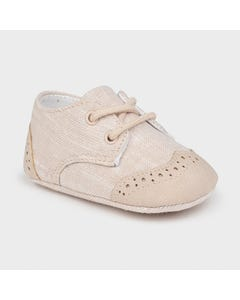 Mayoral Boys Shoe Beige Mixed Texture Size 15-19 | Baby Socks 9391 Beige