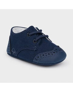 Mayoral Boys Shoe Navy Mixed Texture Size 15-19 | Shoes For Babies 9391 Navy