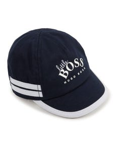 Hugo Boss Boys Baseball Cap Navy With Logo Blue Trim Size 40-50 | Toddler Hats J91113 Navy