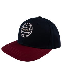 WLKN Boys Baseball Cap Navy  Burgundy Brim 2-5 & 7-14 Size 2-7 | Boys Hats CJ128 Navy