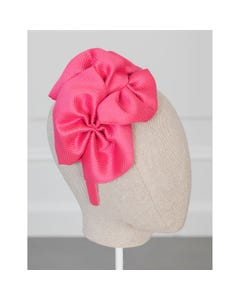 Abel & Lula Girls Headband Fuschia Large Bows Trim Size OS   Hair Accessories For Toddlers 5459 Pink