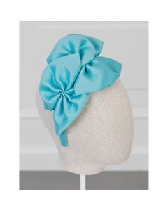 Abel & Lula Girls Headband Turquoise Large Bows Trim Size OS   Hair Accessories For Kids 5459 Blue
