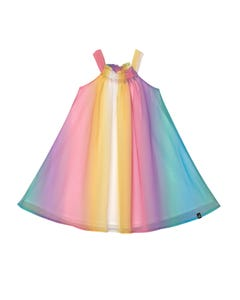 Deux par Deux Girls Dress Rainbow Chiffon Sleeveless Size 3-14 | Girls Party Dresses 30O88 Multi
