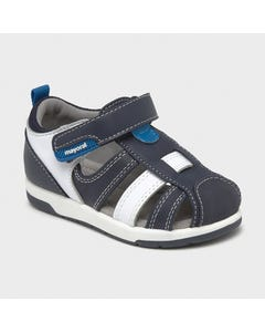 Mayoral Boys Sandal Navy & White Urban Leather Insole Size 20-25 | Toddler Sandals 41296 Navy