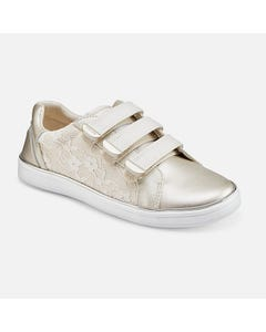 Mayoral Girls Shoe Champagne Lace Sporty 3 Velcro Straps Size 26-33 | Toddler Sandals 43243 Gold