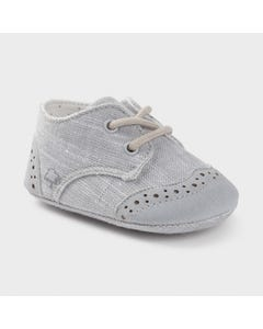 Mayoral Boys Shoe Grey Texture Laces Size 15-19 | Shoes For Babies 9391 Grey