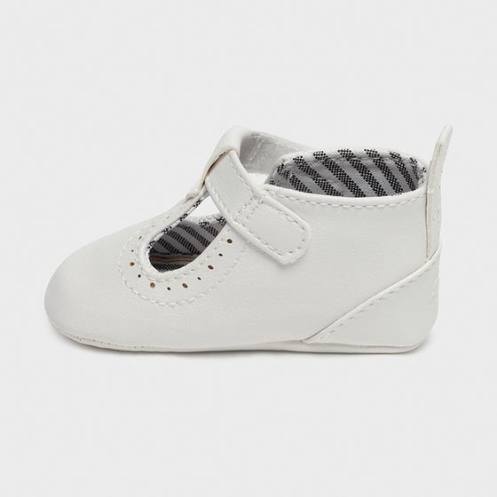 Mayoral Boys Shoe Cream Faux Leather Striped Lining Size ...