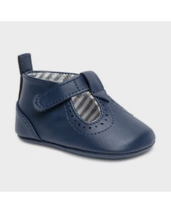 Mayoral Boys Shoe Navy Faux Leather Striped Lining Size 15-19 | Toddler Shoes 9293 Navy