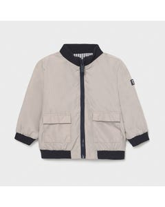 Mayoral Boys Beige Windbreaker Reversible Navy & White Stripe Size 6m-36m | Girls Outerwear 1413 Beige