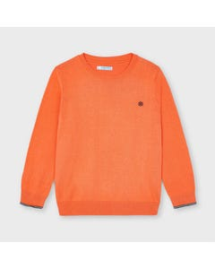 Mayoral Boys Sweater Apricot Crew Neck  Size 2-9 | Kids Sweaters Boys 311 Orange