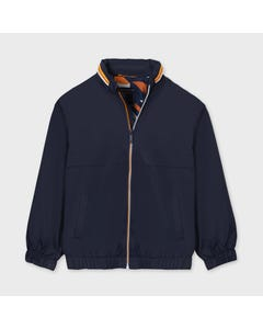 Mayoral Boys Windbreaker Navy Printed Lining White Peach & Navy Size 8-18 | Baby Boys Outerwear 6487 Navy