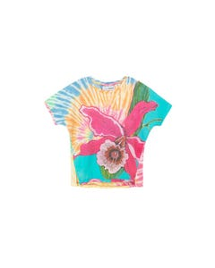 DESIGUAL Girls T Shirt Multi Colored Fuschia Orchid Estocolmo Size 4-14 | Shirts GTK14 Multi