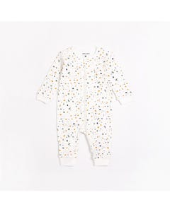 Petit Lem Unisex Sleeper White Multi Print Two Way Zipper Closure Size NB-24m | Sleepers 66037 White