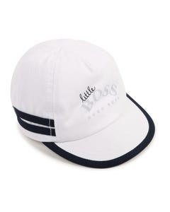 Hugo Boss Boys Baseball Cap White Navy Trim With Logo Size 40-50 | Hats 91113 White
