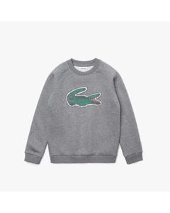 Lacoste Boys Sweat Top Grey Green Alligator Print Size 2-16 | Boys Sweater Vest SJ0312 Grey