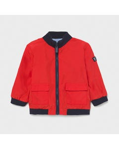 Mayoral Boys Windbreaker Red & Blue Reversible Navy Trim Size 6m-36m | Baby Coats 1413 Red