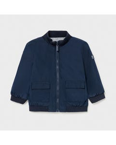 Mayoral Boys Windbreaker Navy & Blue Stripe Reversible 2 Pockets  Size 6m-36m | Kids Coats 1413 Navy