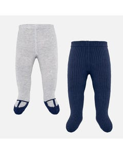 Mayoral 2PACK TIGHTS NAVY AND GREY KNIT Sizes 0m-18m | 9150 MULTI