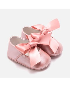 Mayoral SHOE MARY JANE LIGHT PINK SATIN BOW Sizes 15-19 | 9214 PINK