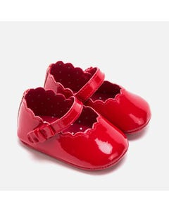 Mayoral SHOE RED PATENT MARY JANE SCALLOPED EDGE Sizes 15-19 | 9217 RED