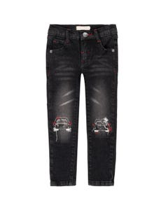 DENIM JEANS BLACK WITH PICK UP EMBROIDERIES